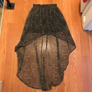 ecoté high-low patterned skirt